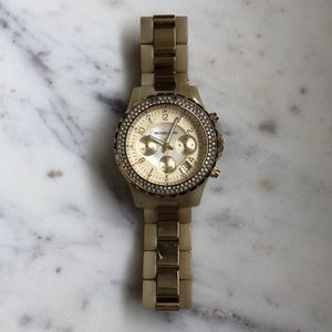 Large Gold Michael Kors watch